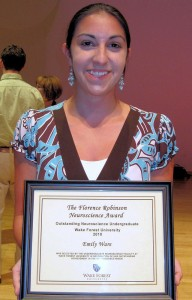 The award winner for 2010 was Emily Ware